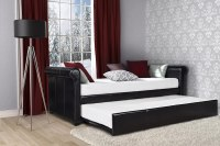 Twin Upholstered Daybed with Trundle Frame Day Bed Living ...