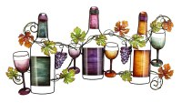 Elegant Wine Metal Wall Art: Many Ways to Decor Walls