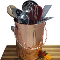 Kitchen Utensil Caddy Large Sink Holder Organizer Crock Copper