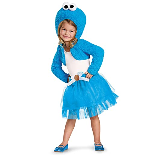 Disguise 76893M Cookie Monster Shrug And Tutu Kit Costume, Medium (3T-4T)