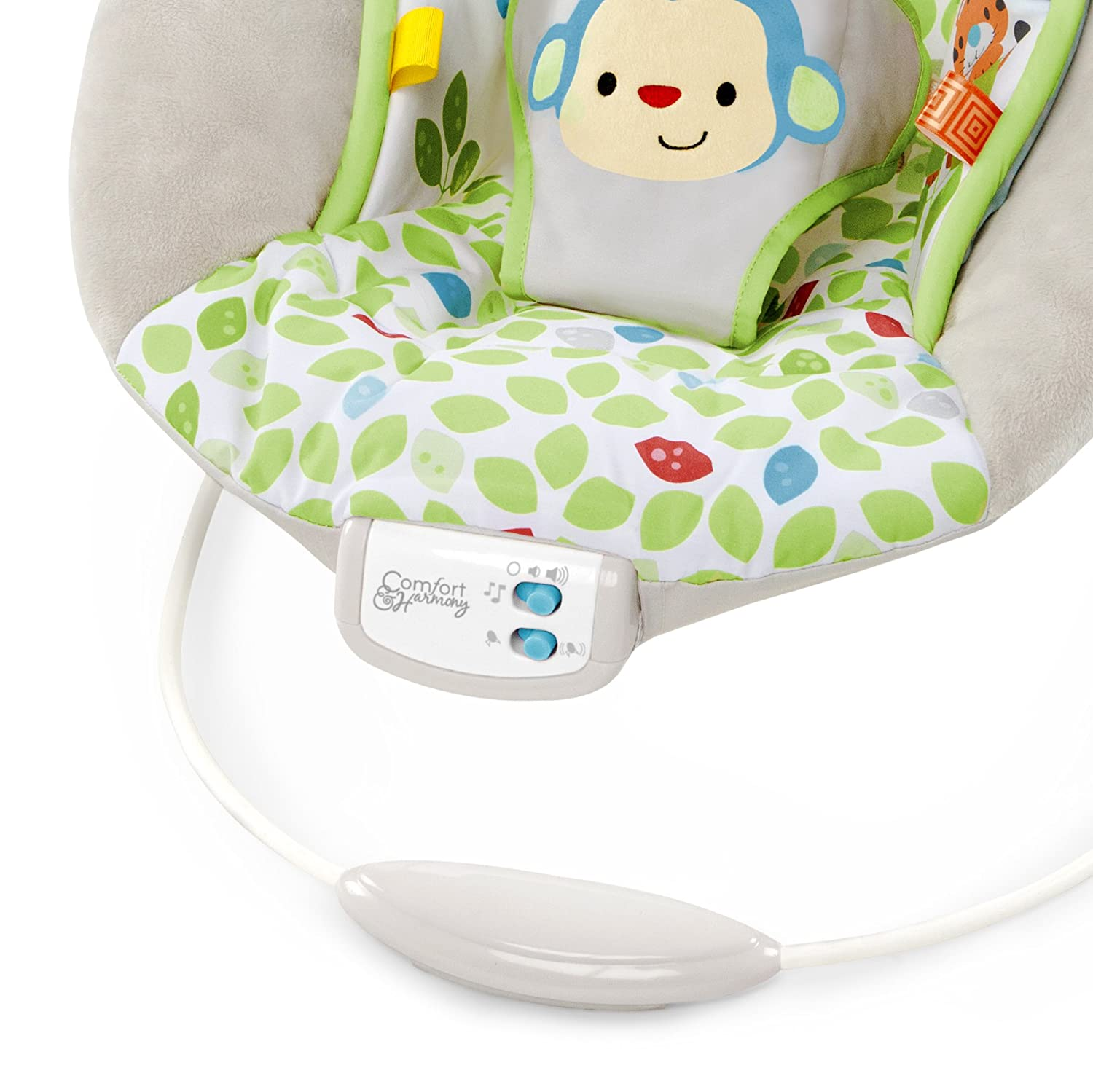 baby chair that vibrates dining covers for wedding bouncer cradling plush seat vibrating merry