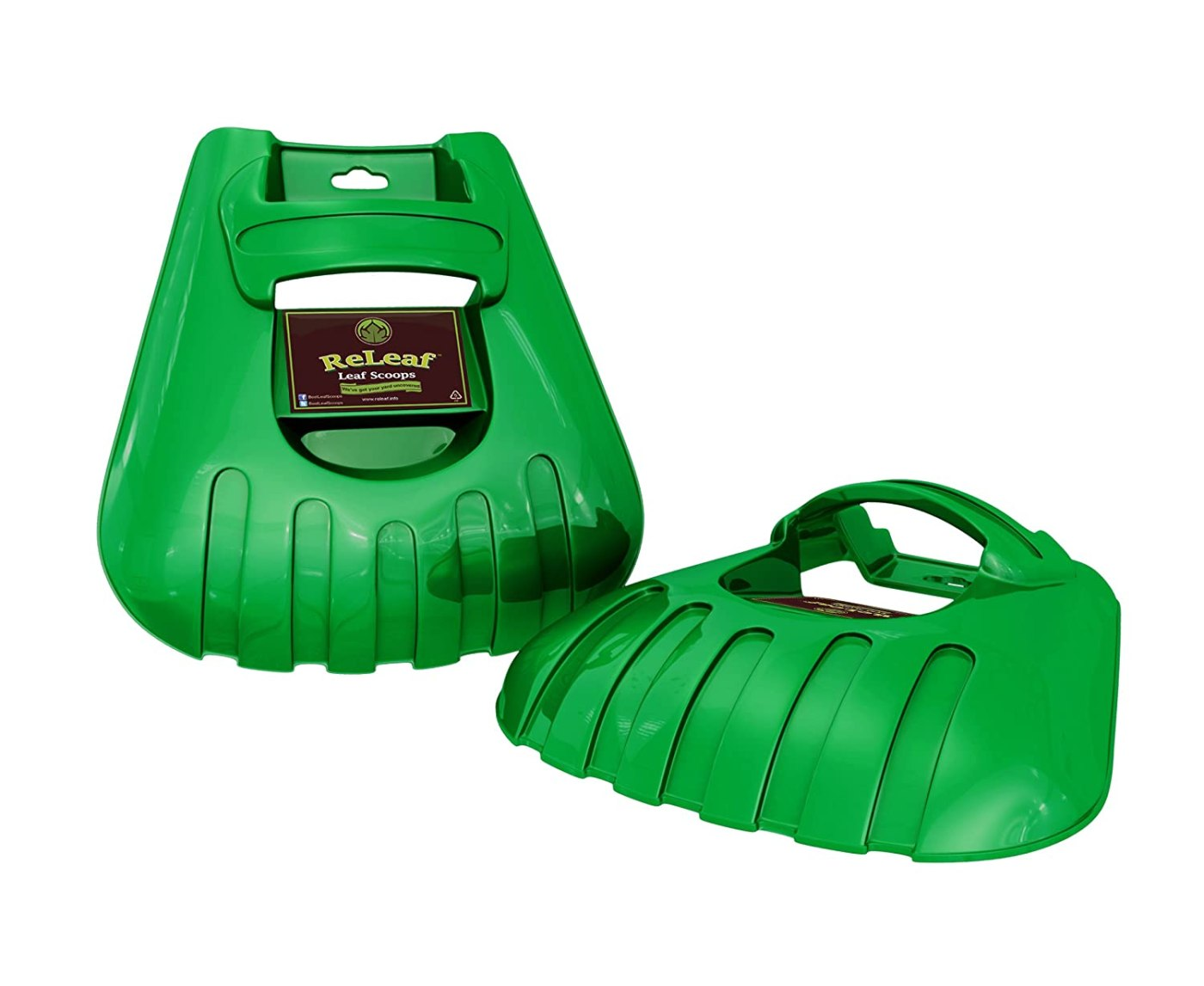 Releaf Leaf Scoops Ergonomic Large Hand Held Rakes Fast Leaf and Lawn Grass Removal Tools Perfect Trash Loaders