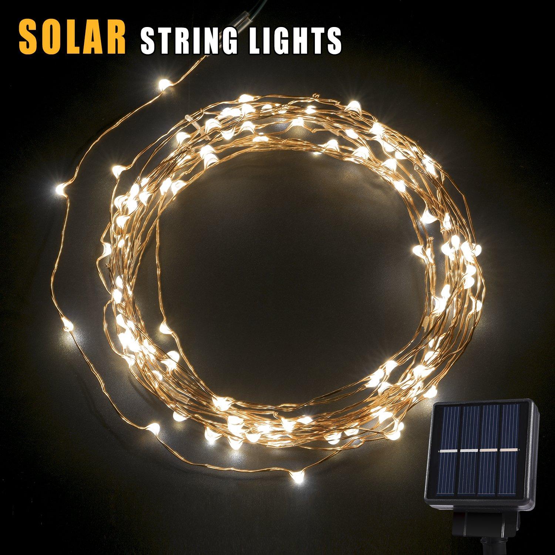 Solar LED String Light 120 LEDs Outdoor Solar Powered LED String Lights Water  eBay