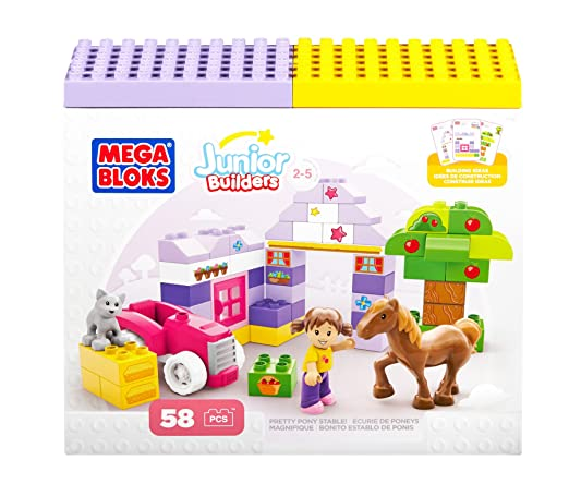 Building Blocks Pretty Pony Stable