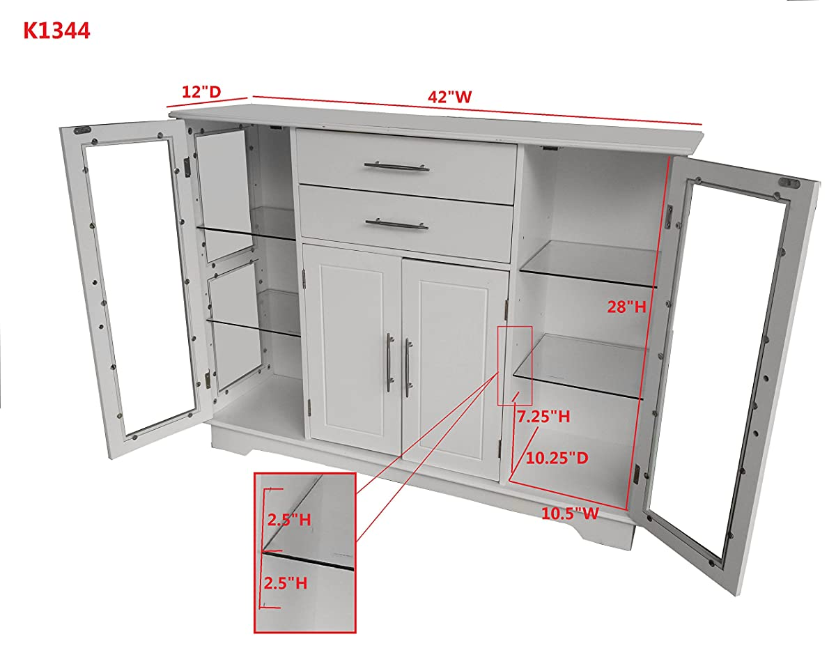 kitchen buffet storage cabinet makeover ideas kings brand with glass