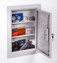 Stack on Hidden in Wall Vault Tactical Gun Storage Cabinet ...