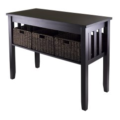 Sofa Table Storage Baskets Saddle Best Contemporary Entryway Console Tables Olivia 39s Place