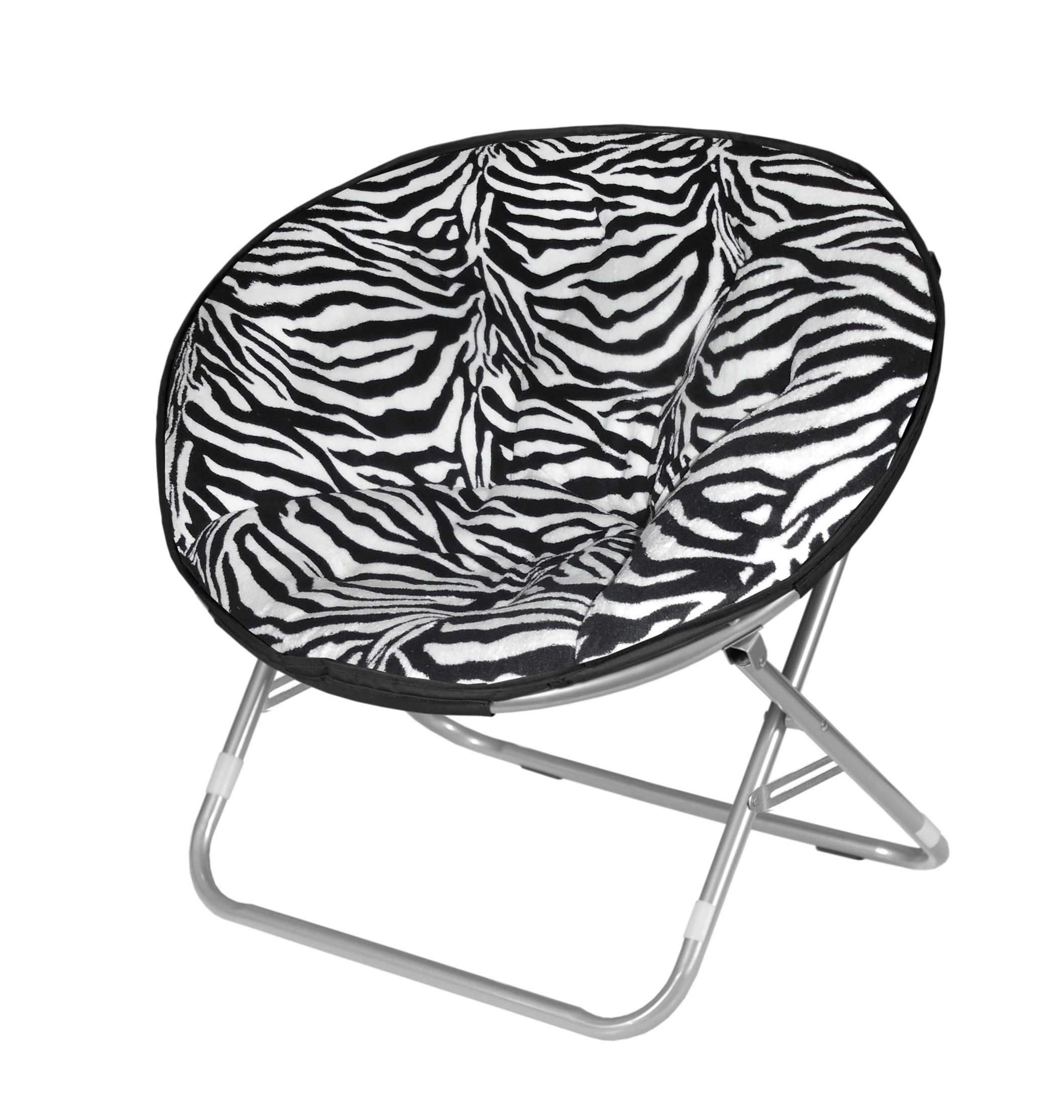 saucer chair for kids pierre paulin microplush folding zebra print