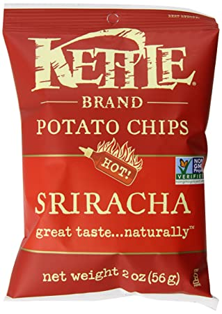 Kettle Brand Potato Chips Caddy, Sriracha, 2-Ounce Bags, 6 Count