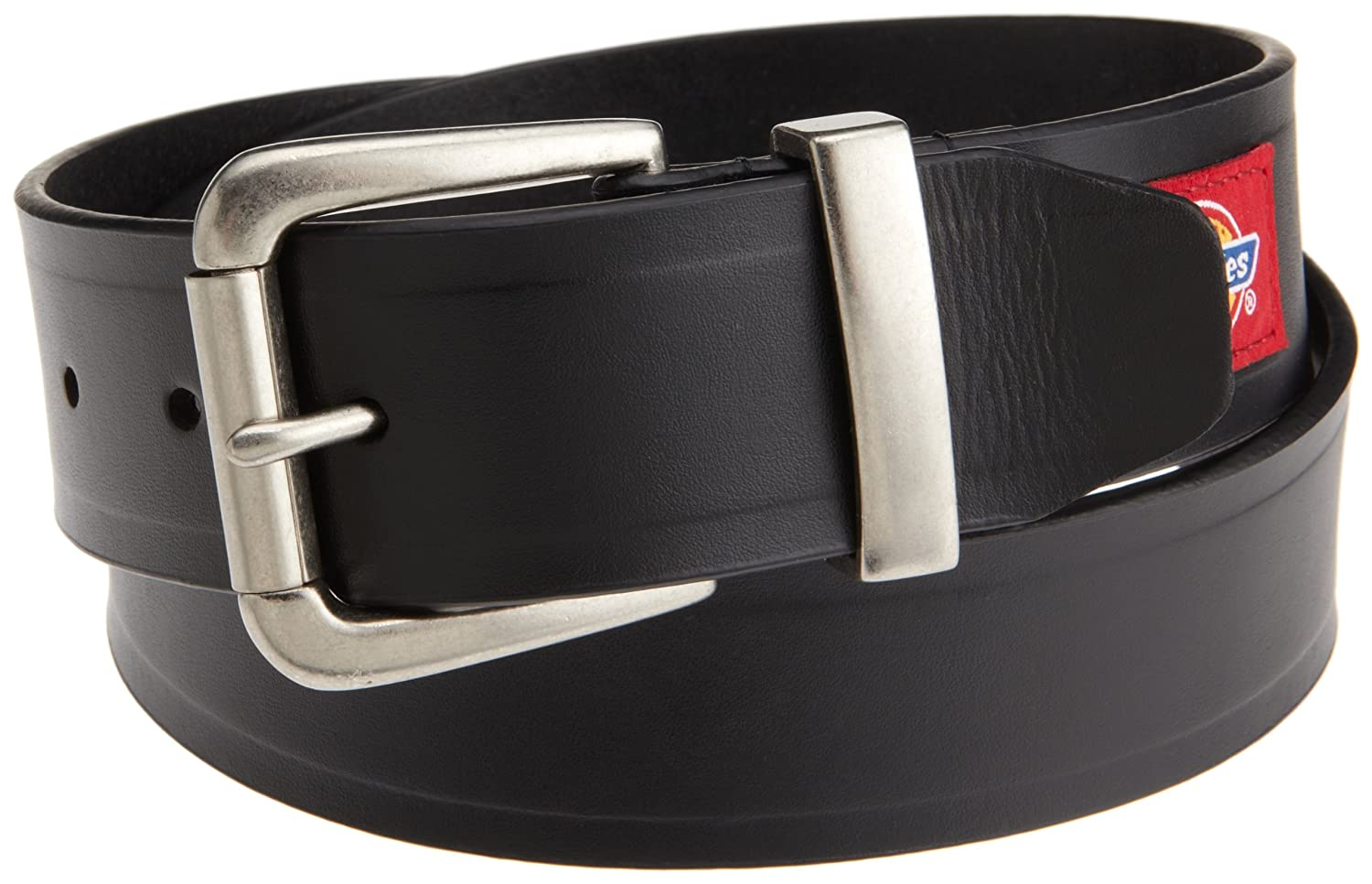 Dickies Mens 40mm Bridle Leather Belt With Patch