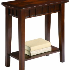 Side Table Sofa Leathercraft Reclining High End Entry Hall Tables Home Design Inside