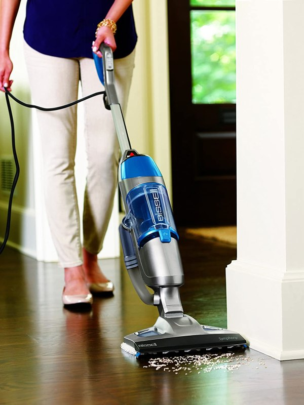 Bissell 1132a Symphony -in- Vacuum And Steam Mop 4 Pads Included