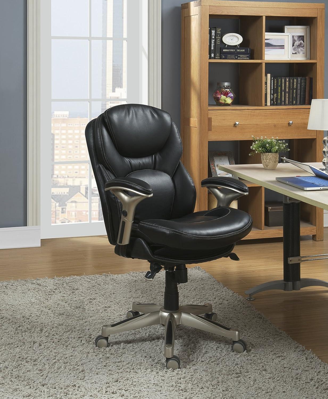 serta bonded leather executive chair best chairs geneva glider orthopedic office oprthopedic
