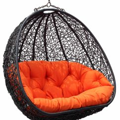 Hanging Chair Pier One Baby Bjorn High Red And Black Wicker