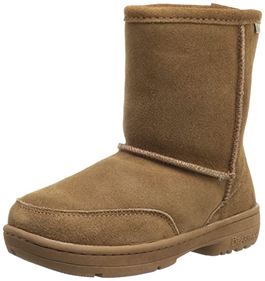 BEARPAW Meadow Shearling Boot (Little Kid/Big Kid),Hickory,11 M US Little Kid