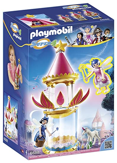PLAYMOBIL Super 4 Musical Flower Tower with Twinkle Building Kit