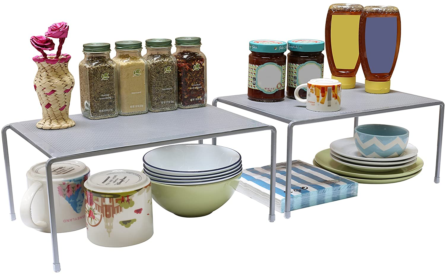 Counter Shelf Organizer Kitchen Storage Expandable