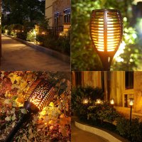 Solar Lights Dancing Flames Balight LED Waterproof ...