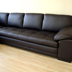 2 Piece Brown Leather Sofa Half Circle Sectional Sofas Baxton Studio Abriana Dark