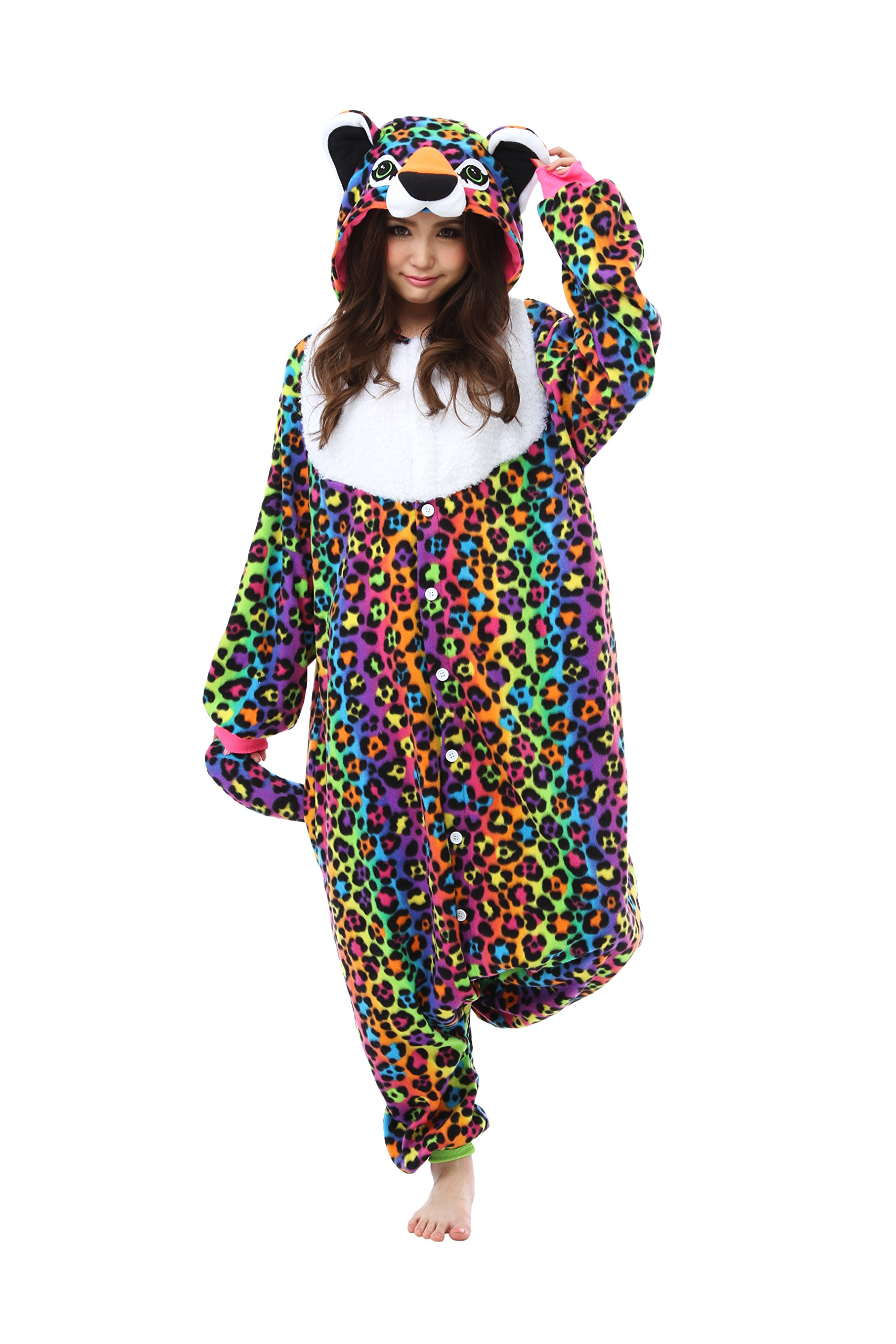 Lisa Frank Hunter Kigurumi - Adult Costume Neon Icon Bear