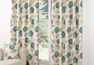 Amazon Brown And Blue Curtains