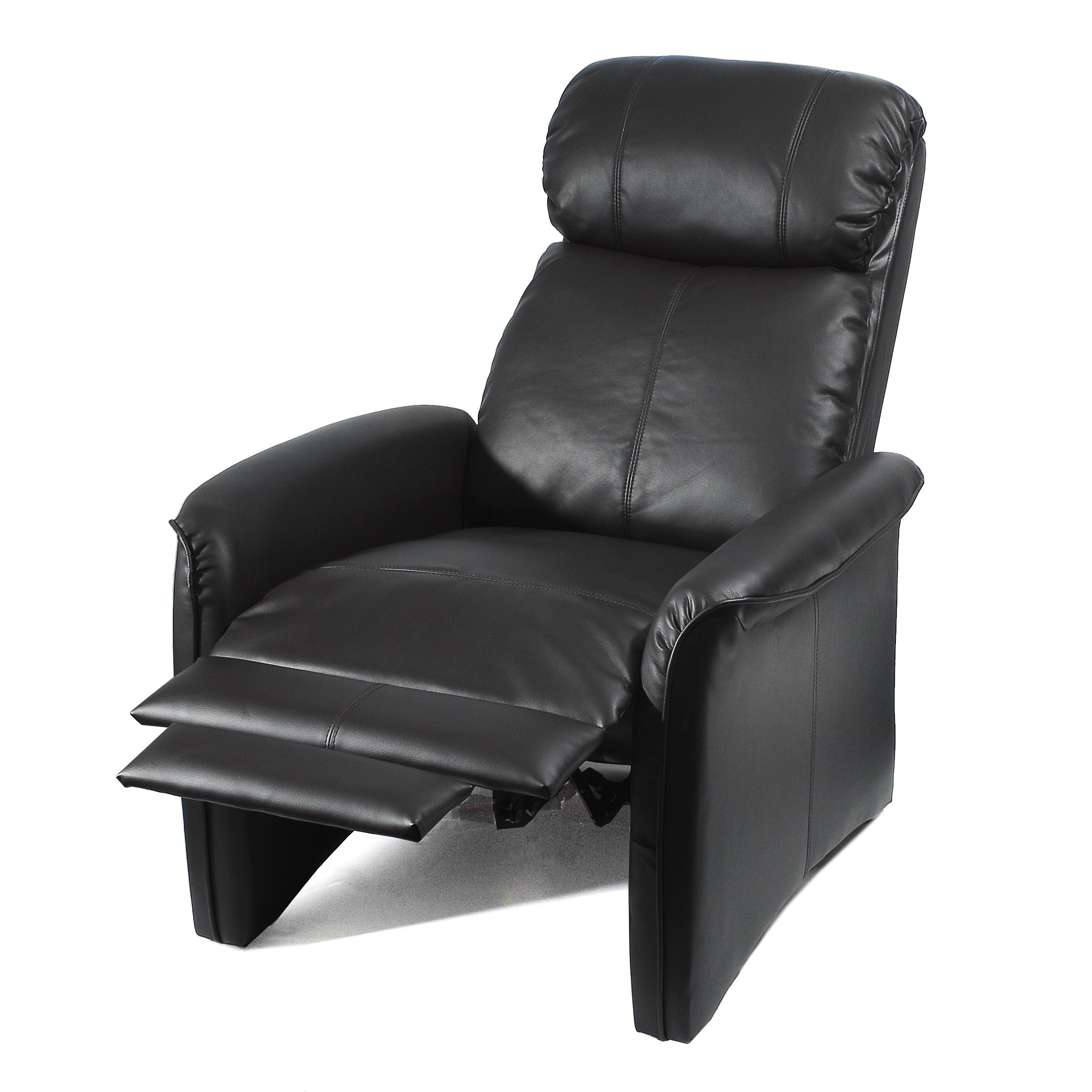 ivory leather office chair fairfield home soft pad recliner 3 positional cozy