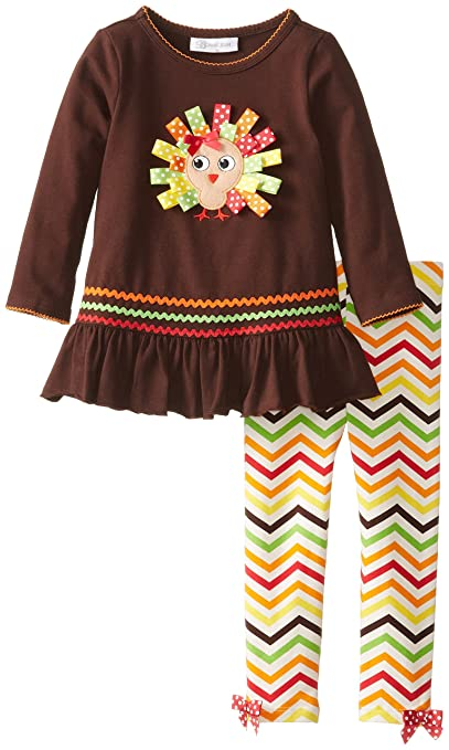 Bonnie Jean Little Girls' Ribbon Turkey Legging Set