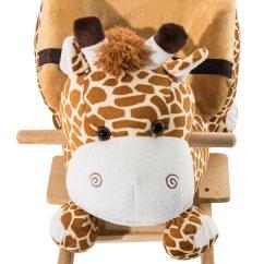 Giraffe Rocking Chair Japanese Floor Qaba Kids Plush Horse Style Theme