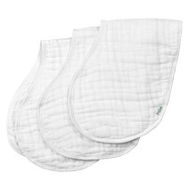 green sprouts Muslin Burp Cloths made from Organic Cotton,White Set