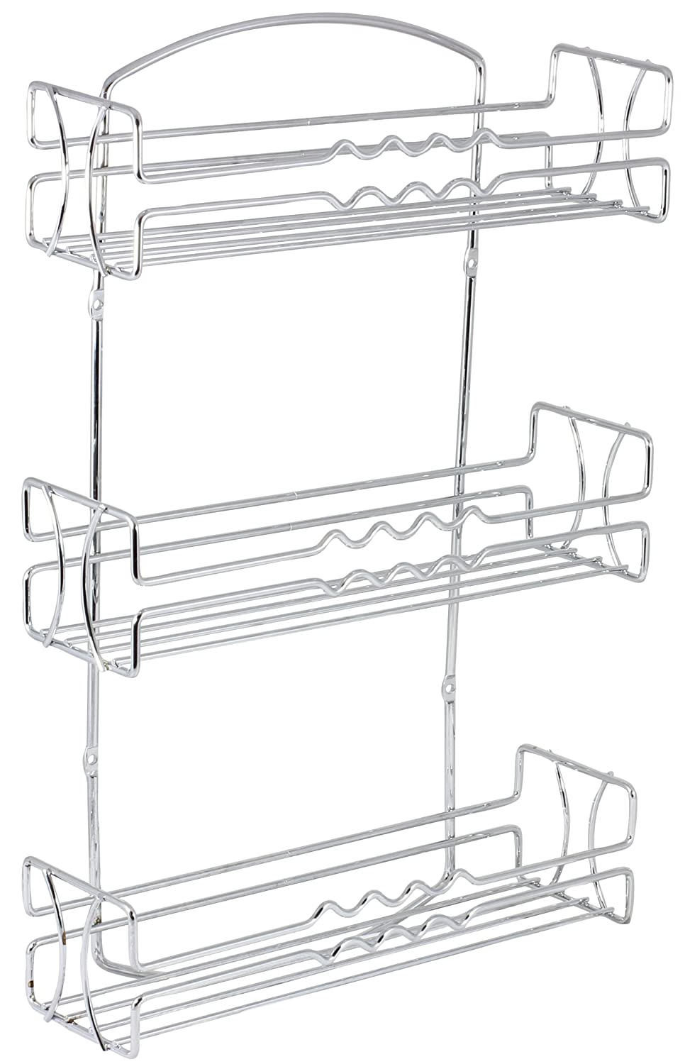 Spice Rack Kitchen Organizer Wall Mount Chrome Decorative