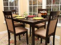 Kitchen Dinette Table Dining Room Dark Wood Finish ...