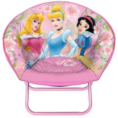 Saucer Chair For Kids Formal Living Room Chairs Folding Disney Round Play Princess Seat