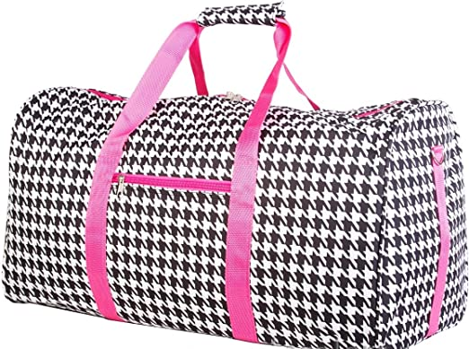 135c1a4a8a Houndstooth Hot Pink Travel Gym Cheer Duffle. Pink Green Big Polka Dot Gym  Duffle Carrying Bag ...