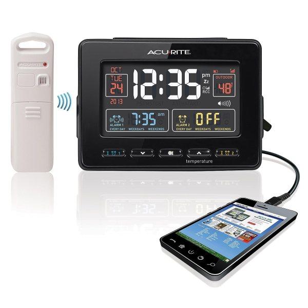 Acurite 13022 Atomic Dual Alarm Clock With Usb Charging