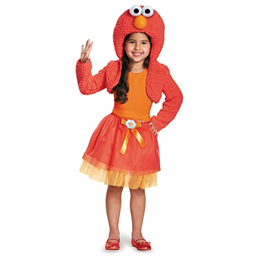 Disguise 76895S Elmo Shrug And Tutu Child Kit Costume, Small (2T)