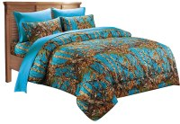 7 PC SEA BREEZE CAMO COMFORTER AND SHEET SET QUEEN ...