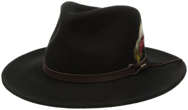 Scala Classico Men' Crushable Felt Outback Hat