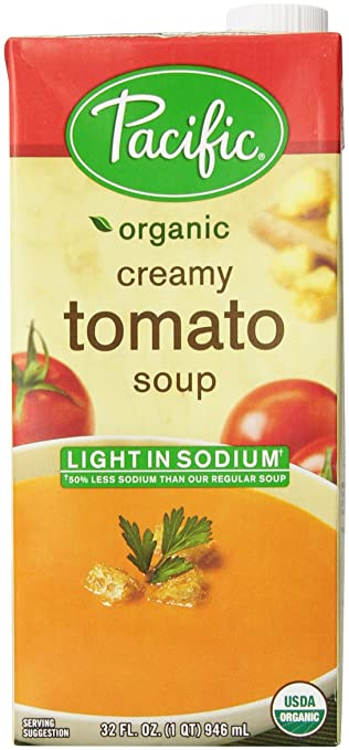 Pacific Foods Light Sodium Creamy Tomato Soup, Organic, 32 Fl Oz