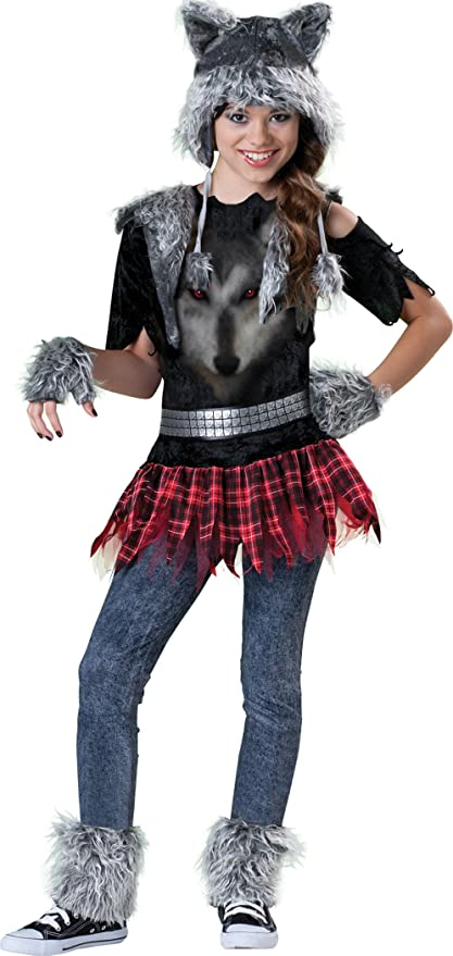 Incharacter Costumes Tween Wear Wolf Costume, Grey/Black/Red, Medium