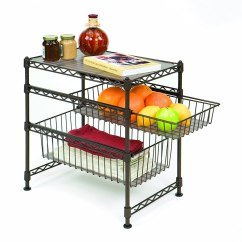 Kitchen Sliding Baskets Closeout Cabinets Seville Classics Commercial Cabinet Organizer