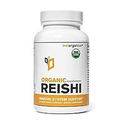 USDA Certified Organic Reishi Mushroom Extract (Vegetarian Capsules)