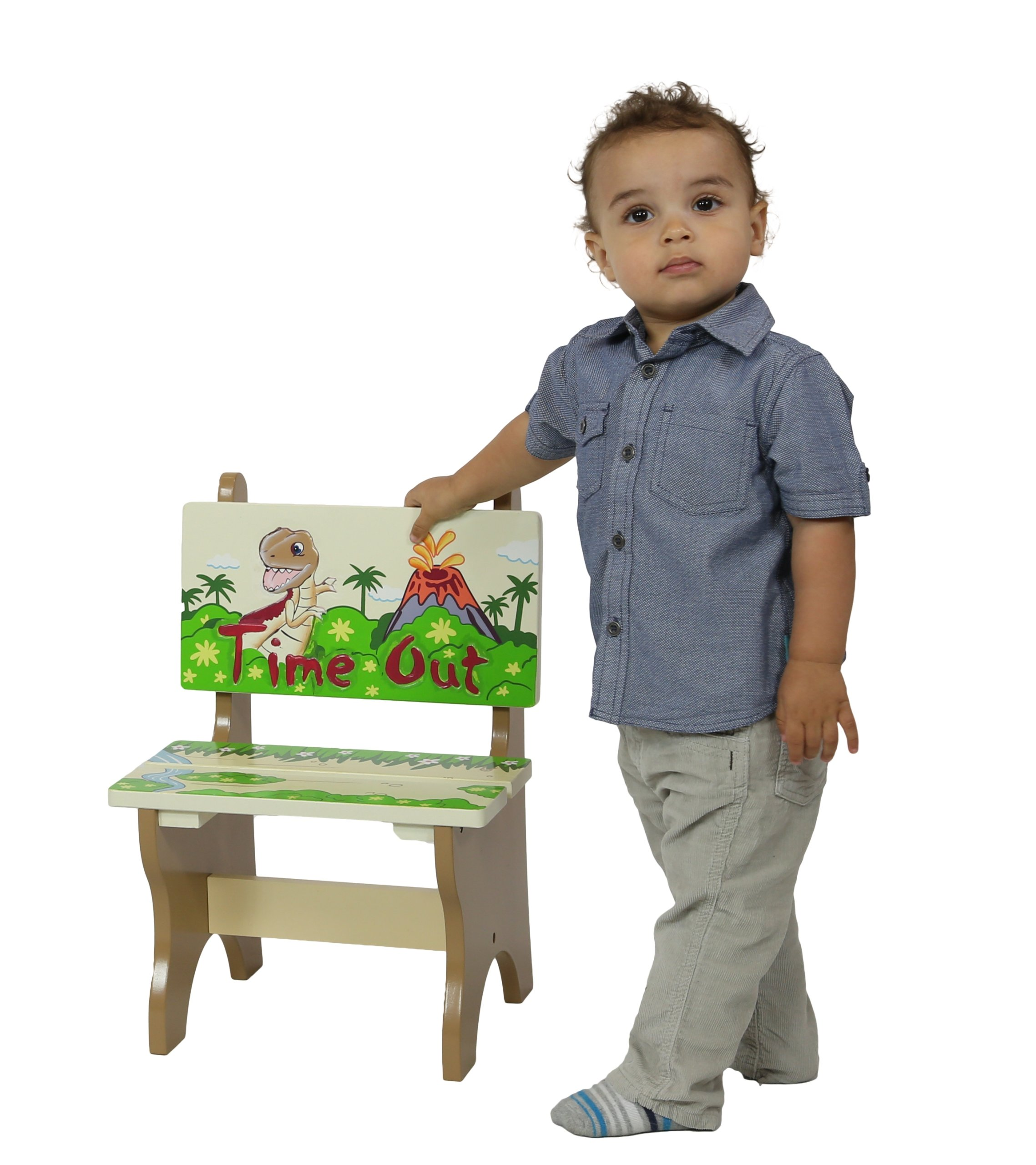 kids time out chair evenflo majestic high replacement cover teamson dinosaur kingdom room