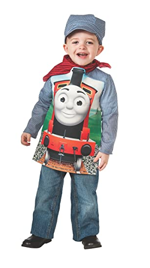 Rubies Thomas and Friends: Deluxe James The Red Engine and Engineer Costume, Child Small