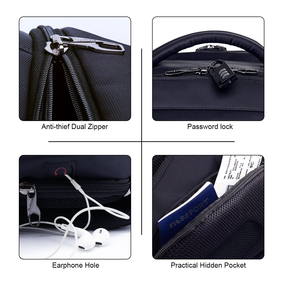 best business backpack security