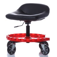 Mechanics Creeper Seat Rolling Work Stool Heavy Duty Chair ...