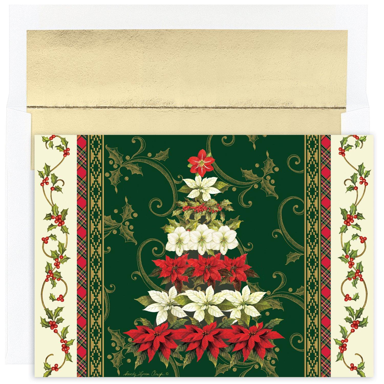 Poinsettia Boxed Christmas Cards Christmas Wikii