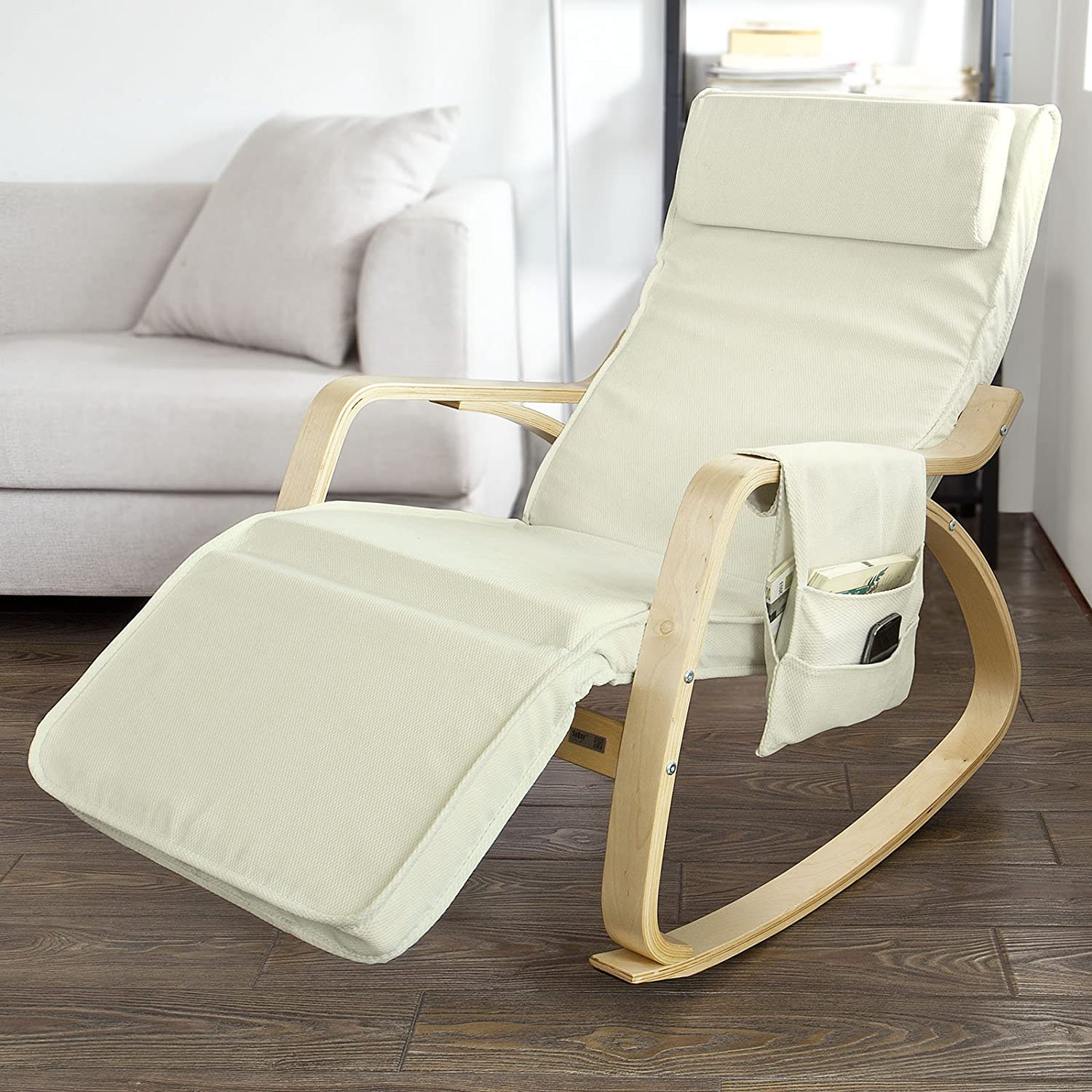 Comfortable Rocking Chair Sobuy Fst18 W Comfortable Relax Rocking Chair Lounge