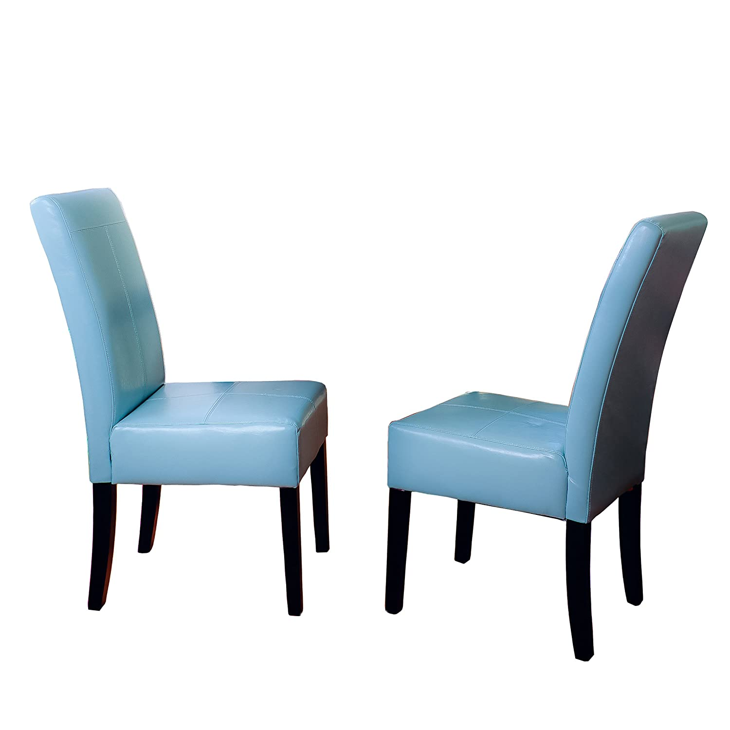 Blue Leather Dining Chairs Best Faux Leather Dining Chair Seekyt