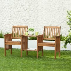 Two Seater Garden Table And Chairs Efavormart Wedding Chair Covers Set Wooden 2 Bench Deck
