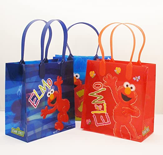 Elmo Party Favor Goodie Small Gift Bags 12